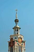 The church against the blue sky