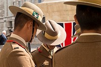 The Gurkhas march from Wellington Barracks to the Ghurka memorial as part of their 200th anniversary and memorial march in Whitehall. A memorial servi...
