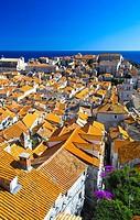 Dubrovnik rooftops, City of Dubrovnik, Dalmatia, Croatia.