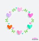 Romantic card, spring floral design element. Vector illustration.
