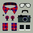 Set of fashion hipster design element