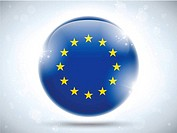 Europe Flag Glossy Button