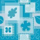 Patches and stitch seamless pattern
