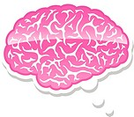 Brain in a thought bubble