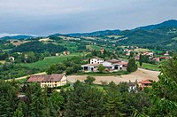Panoramic view of Emilia-Romagna. Italy.