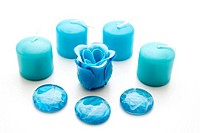 Soap rose with candles