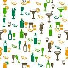Drinks seamless pattern