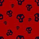 Red Skull Pattern Small