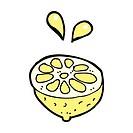 comic cartoon fresh lemon