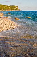 Follow the shoreline