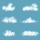 Vector Transparency Gradient Clouds Set