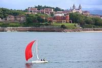 La Concha Bay. Donostia. San Sebastian. Gipuzkoa. Basque Country. Spain.