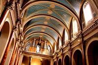 Organ in the church of La Madeleine in Albi, Tarn, France.
