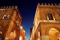 The medieval town hall palace in Cremona Lombardy Italy.