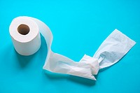 Roll of toilet paper with a knot.