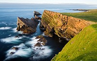 Foula part of the Shetland Islands in northern Scotland, it is one of the most remote permanently inhabited islands in the UK. The cliffs in the north...