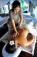 Indonesia, Bali, Massage Treatment at Jimbaran Puri resort.