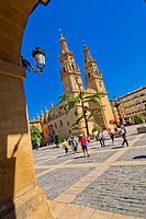Co-Cathedral of Santa María de la Redonda, Spanish Property of Cultural Interest, Historical Heritage, S. XV, Gothic Style, Logroño, La Rioja, Spain, ...