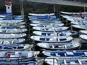 Mundaka (Basque Country) Spain. Ships in the port of Mundaka.