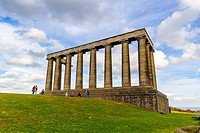Edinburgh city, Calton Hill, National Monument of Scotland.