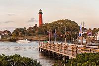 Jupiter Inlet Lighthouse, Jupiter, Florida.