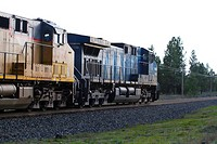 A CEFX lease unit on point of a Union Pacific grain train in Cheney, Washington, USA.