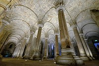 Langobardic Crypt, San Salvatore Abbey, Abbadia San Salvatore, Siena, Tuscany, Italy