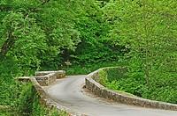 Bretou Medieval Bridge, Eymet, Dordogne Department, Aquitaine, France.