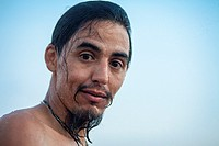 Man with beard on the beach, Guatemala