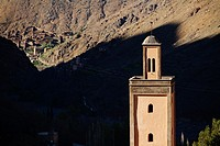 The tower of one of the mosques around Imlil.