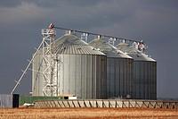 Grain silos. Country Victoria, Australia.
