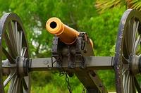 Cannon at Visitors Center, Palo Alto Battlefield National Historic Park, Texas.