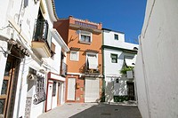Denia the old fishing neighborhood on April 16, 2016 in Alicante province Spain.