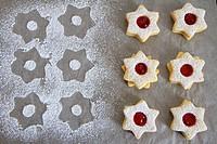 Sprinkled christmas cookies.