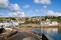 Portmellon village and cove, Cornwall, England, United Kingdom.