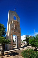 The monument to the original church in the newly created village of Tous in Valencia Community Spain.