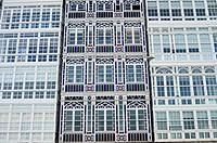 Buildings in A Coruña, Galicia, Spain.