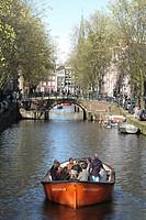Netherlands, Amsterdam, canal scene