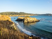 Mendocino Headlands State Park is a California State Park in Mendocino, California. It consists of undeveloped seaside bluffs and islets surrounding t...