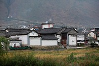 Traditional residence in the Bai ethnic minority village, Yunnan Province, China