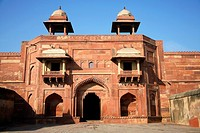Diwan-e-khas, Fatehpur Sikri, was the political capital of India's Mughal Empire under Akbar's reign, from 1571 until 1585, when it was abandoned, ost...