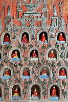 Myanmar, Shan State, Inle Lake, Nyaungshwe surroundings, Shwe Yan Pyay pagoda, Buddha statues offerd by devotees.