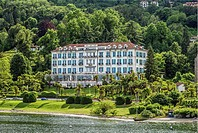 Lido Palace Hotel at the waterfront of Baveno at Lago Maggiore, Piemont, Italy.