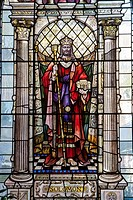 Salomon, Stained glass, St Ann's Church, Manchester, England, United Kingdom.