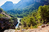 Spectacular landscape of wide areas belong to Gorge of the Gaitanes Malaga, Spain.
