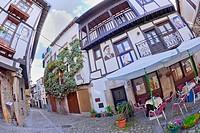 Traditional Architecture, Medieval Town, Historic Artistic Grouping, Mogarraz, Salamanca, Castilla y León, Spain, Europe.