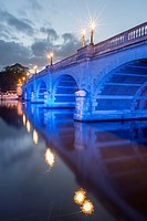 Kingston Bridge at night,Kingston Upon Thames,Surrey,England