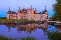 Chambord, Chambord Castle, Chateau de Chambord, Loir et Cher, Loire Valley, Loire River, Val de Loire, UNESCO World Heritage Site, France.
