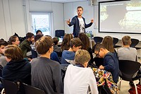secondary school class in Holland.