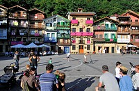 Plaza de Santiago, Pasaia (Spanish: Pasajes) town and municipality located in the province of Gipuzkoa in the Basque Autonomous Community of northern ...